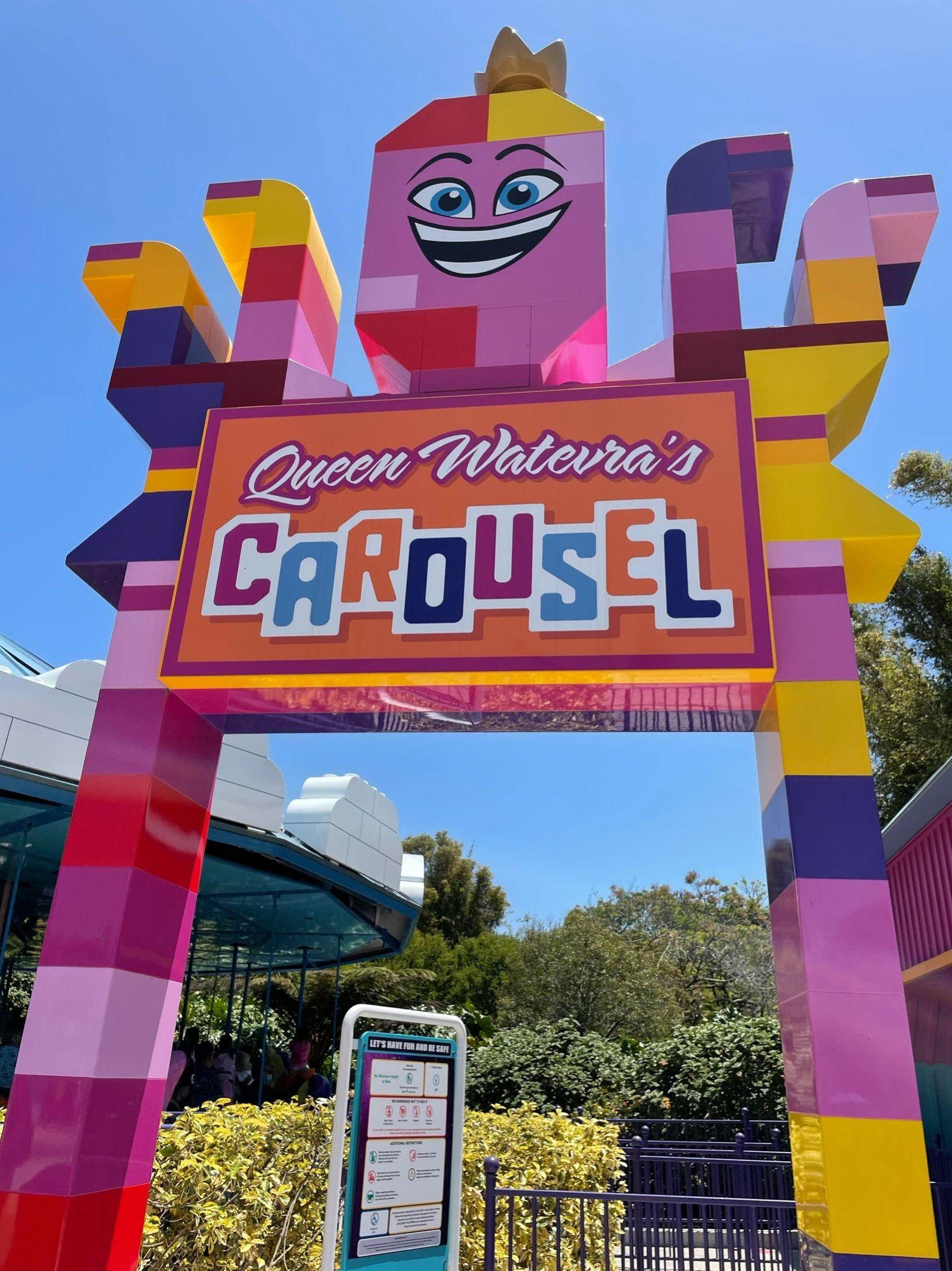 Legoland carousel sign